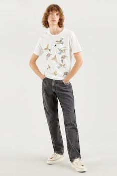 Levi's, Kerek nyakú logós póló, törtfehér/bézs