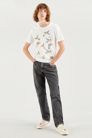 Levi's, Kerek nyakú mintás póló, törtfehér/bézs, 2XL
