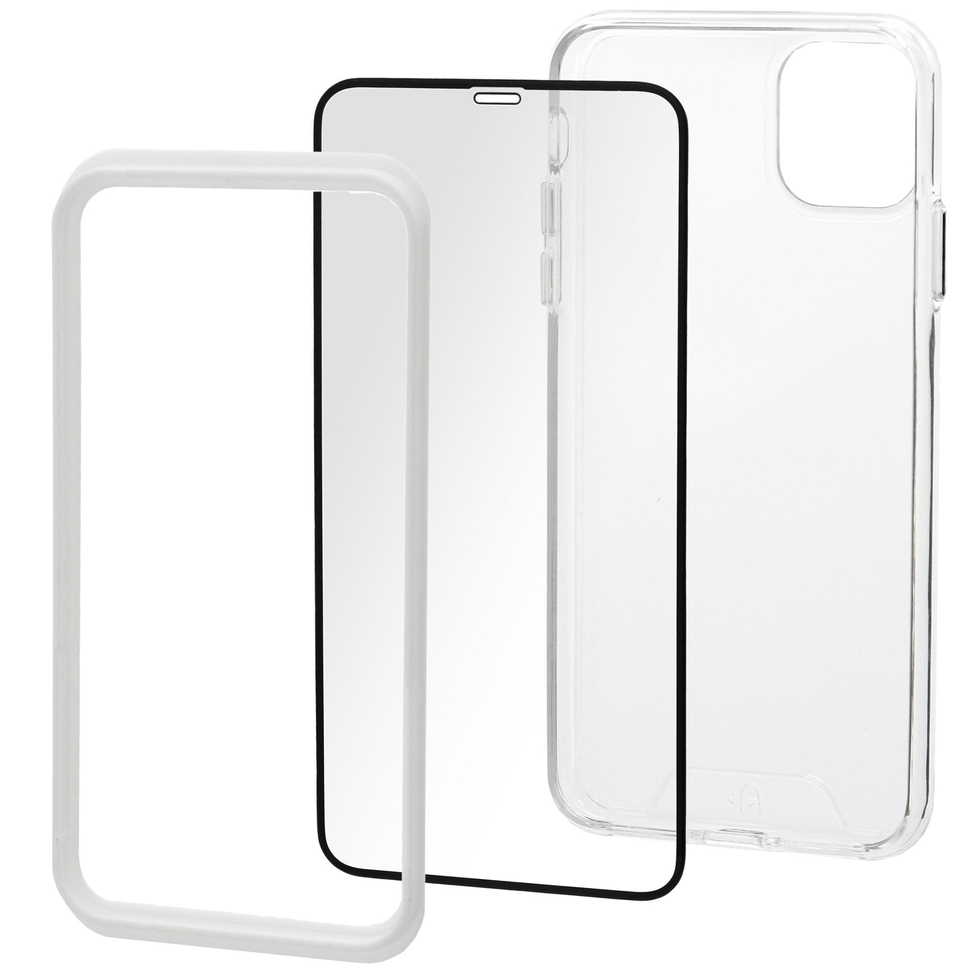 Fotografie Set Folie de protectie A+ Tempered Glass 3D/ Husa transparenta silicon A+ pentru iPhone 11 Pro Max 6.5''