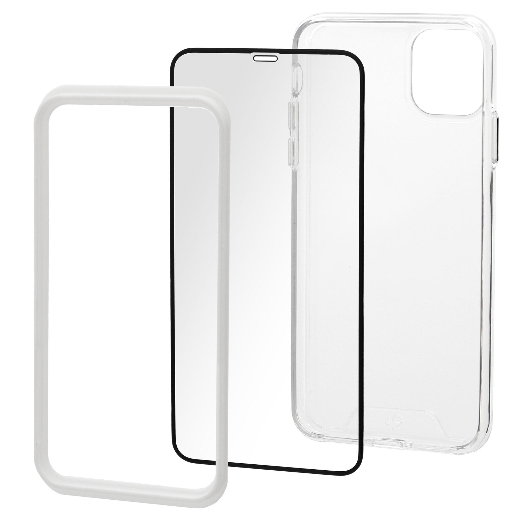 Fotografie Set Folie de protectie A+ Tempered Glass 3D/ Husa transparenta silicon A+ pentru iPhone 11 6.1''