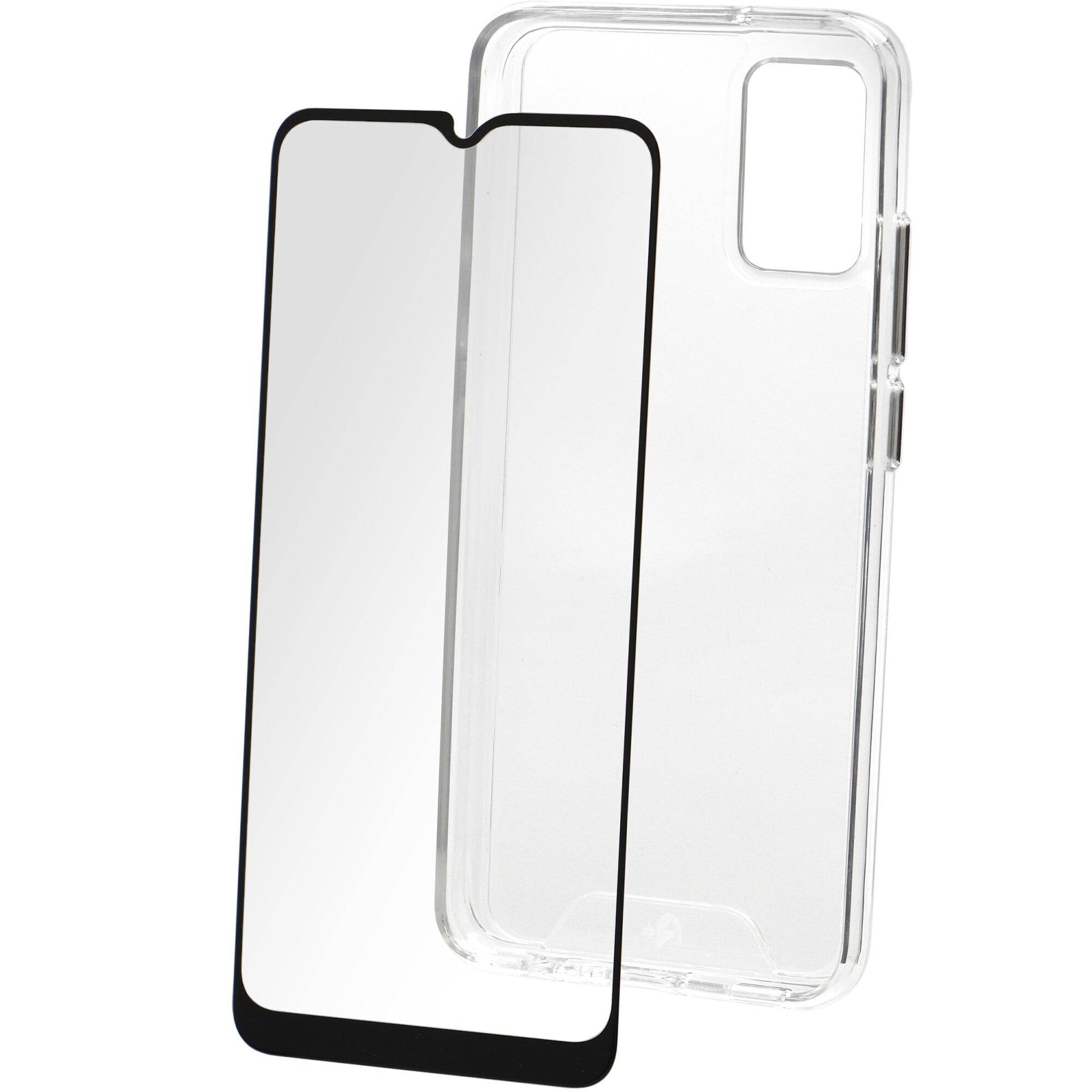 Fotografie Set Folie de protectie A+ Tempered Glass 2.5D/ Husa transparenta silicon A+ pentru Samsung A02s (2021)