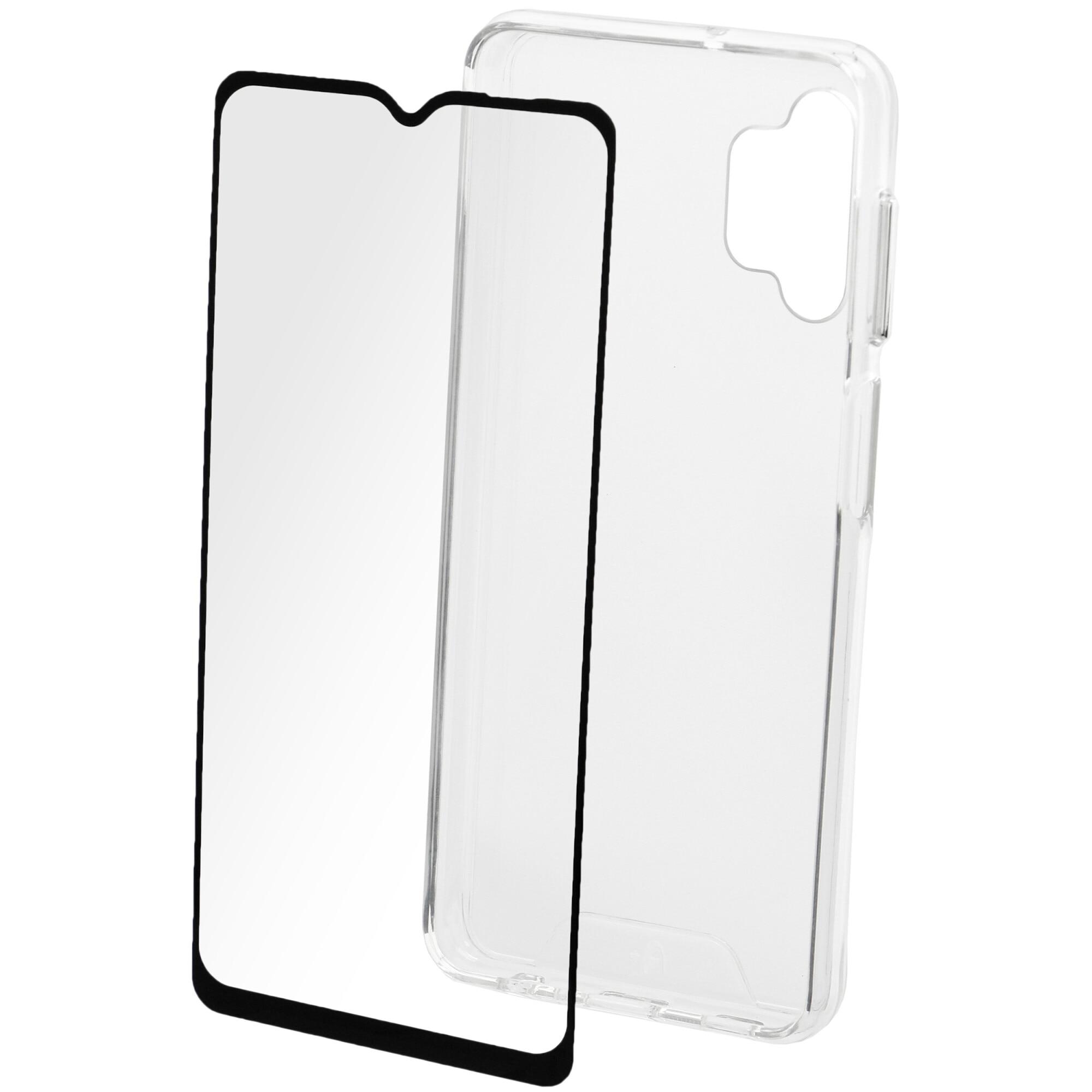 Fotografie Set Folie de protectie A+ Tempered Glass 2.5D/ Husa transparenta silicon A+ pentru Samsung A32 5G (2021)