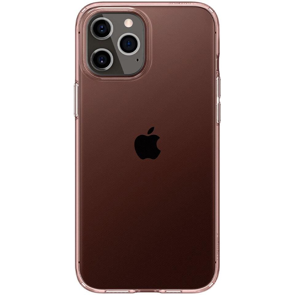 Fotografie Husa de protectie Spigen Crystal Flex iPhone 12 Pro Max Rose, Crystal