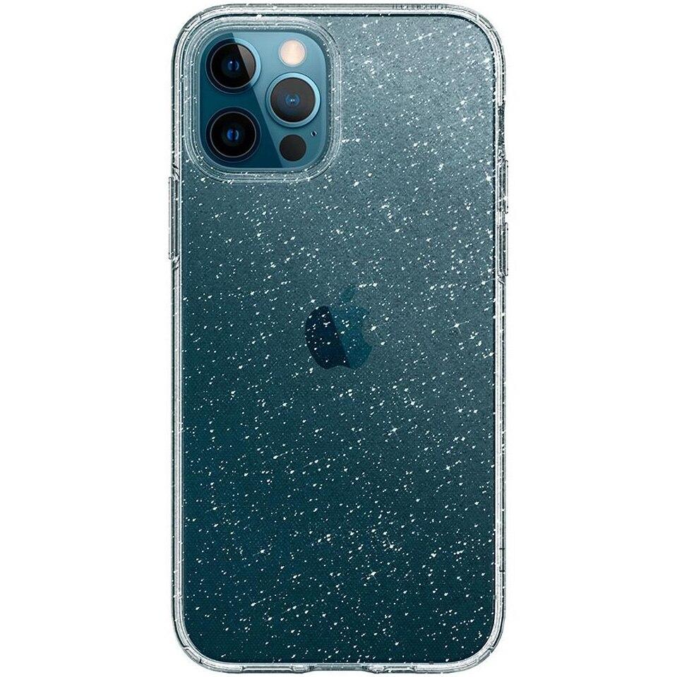 Fotografie Husa de protectie Spigen Liquid Crystal Glitter iPhone 12 / 12 Pro Crystal, Quartz