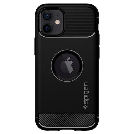 Husa de protectie Spigen Rugged Armor iPhone 12 Mini, Matte Black