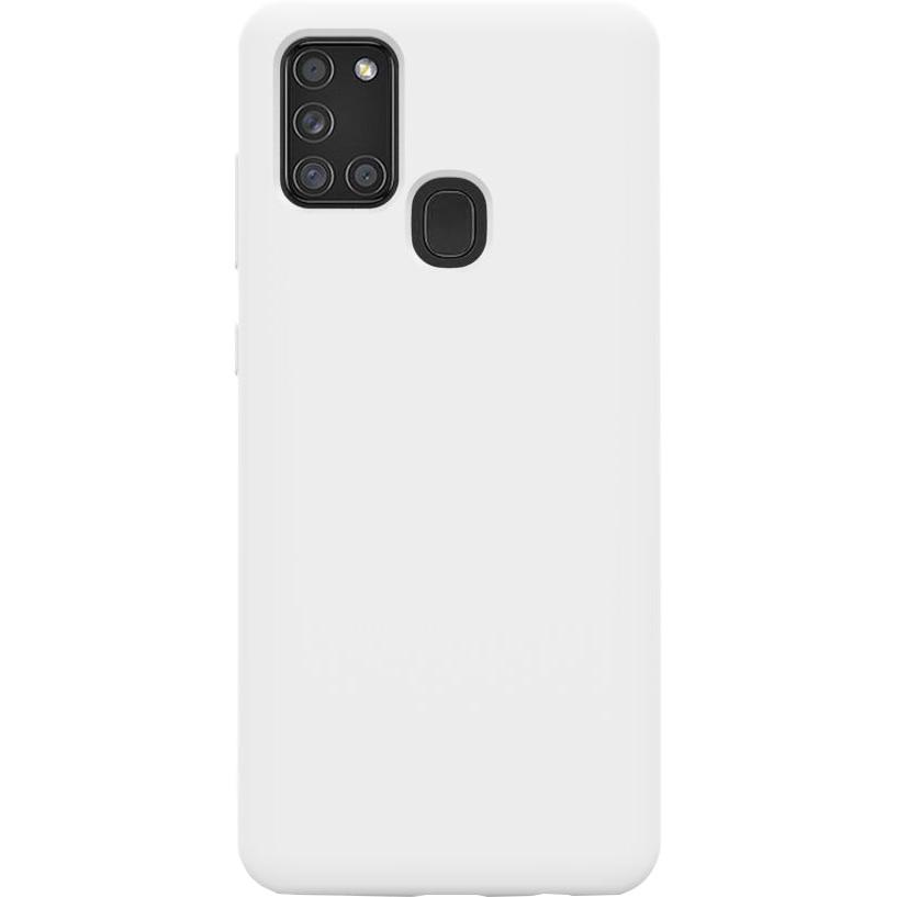 Fotografie Husa de protectie 360° Lemontti Liquid Silicon Samsung Galaxy A21s, Stone