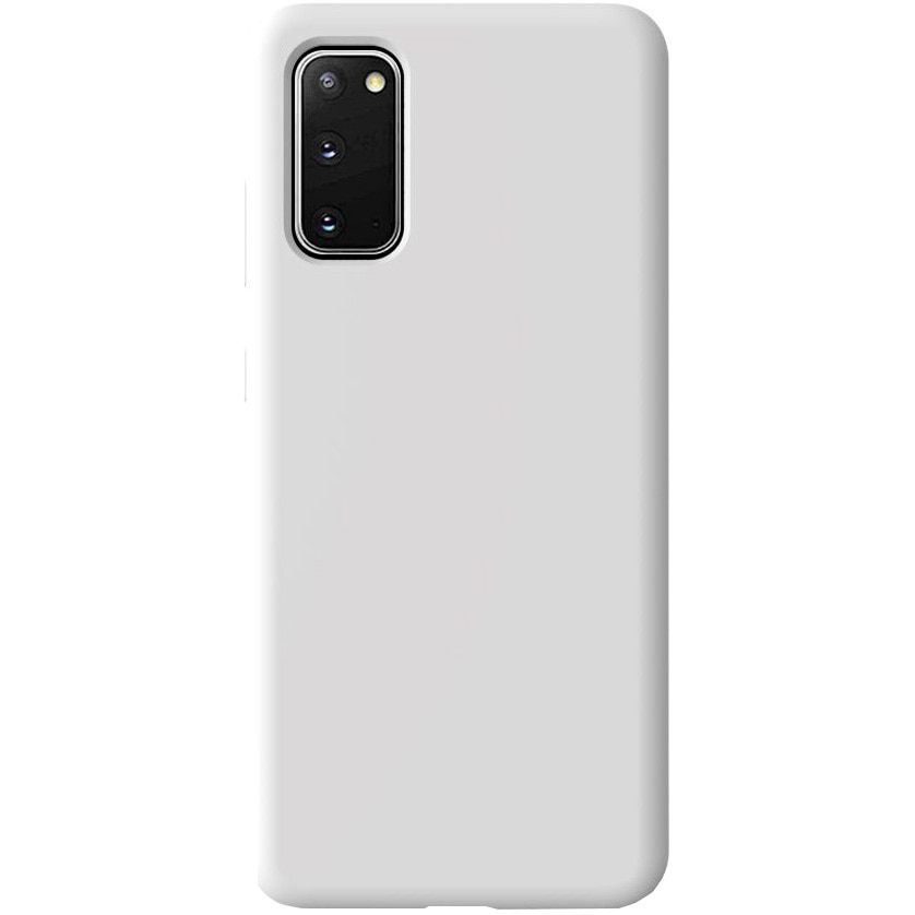Fotografie Husa de protectie 360° Lemontti Liquid Silicon Samsung Galaxy S20, Stone