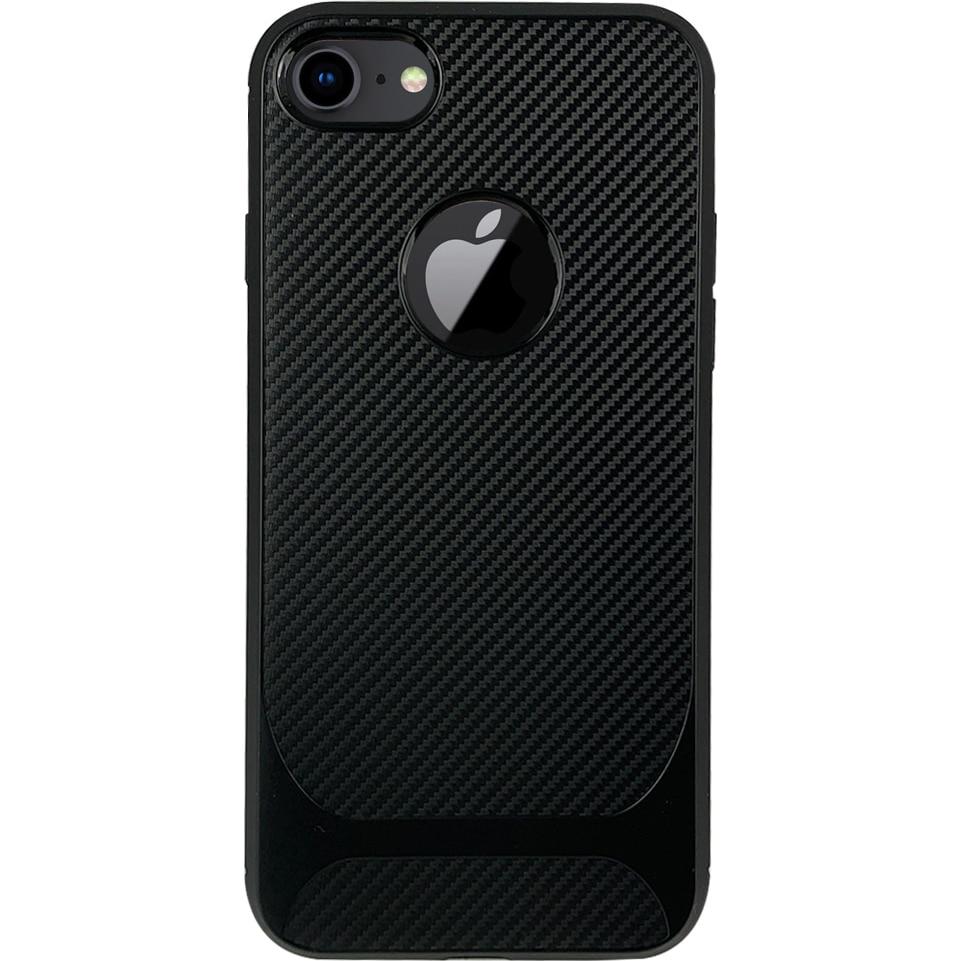 Fotografie Husa de protectie Lemontti Carbon Pro iPhone SE 2020 / 8 / 7, Negru