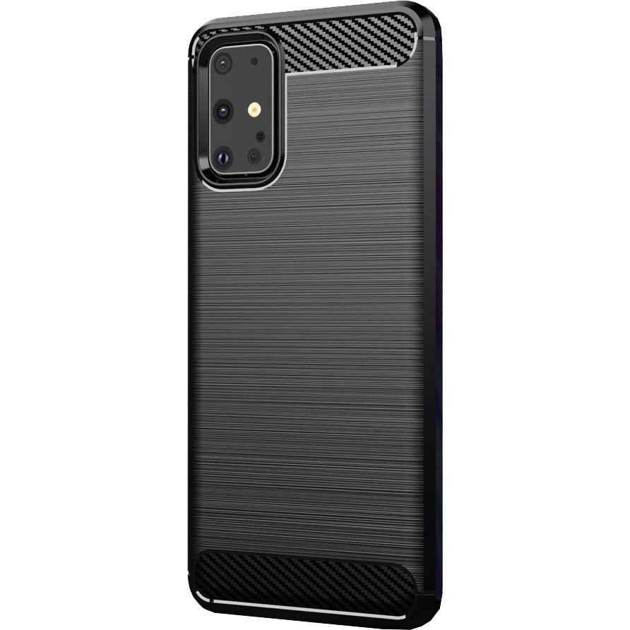 Fotografie Husa de protectie Lemontti Carbon Samsung Galaxy S20, Negru