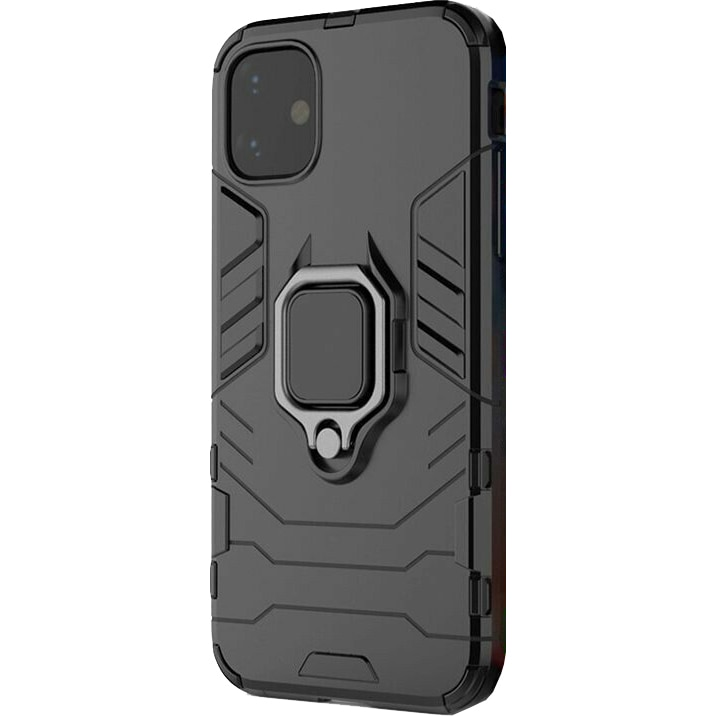 Fotografie Husa de protectie antisoc Lemontti Ring Armor iPhone 11, Negru
