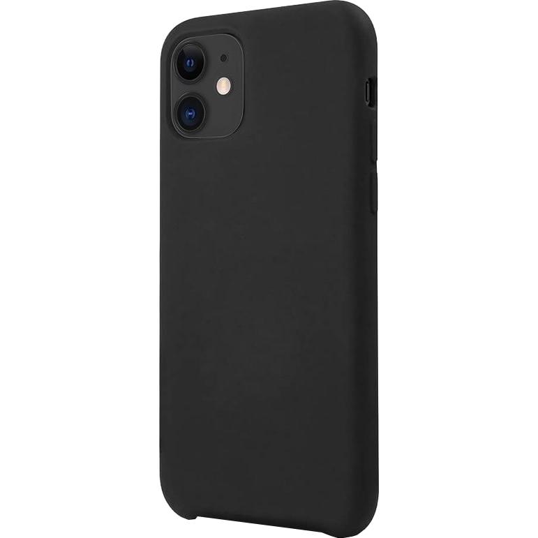 Fotografie Husa de protectie Lemontti Silicone Lite iPhone 12 Mini, Negru