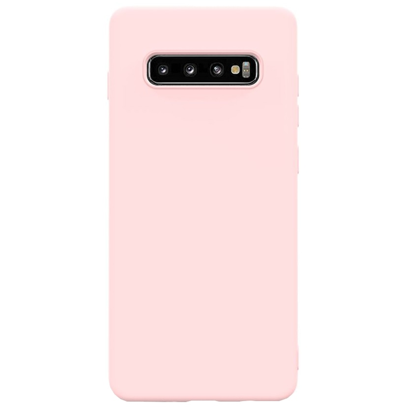 Fotografie Husa de protectie Lemontti Silicon Soft Slim Samsung Galaxy S10, Pink Sand
