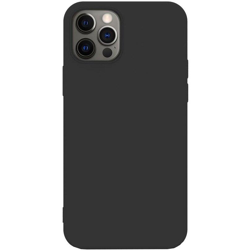 Fotografie Husa de protectie Lemontti Silicon Soft Slim iPhone 12 Pro Max, Black
