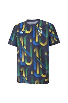 Puma, Футболна тениска Hero с овално деколте, Тъмносин, жълт, бял