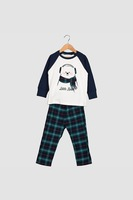 Yamamay, Карирана пижама, Тъмносин, бял, тъмнозелен, 12Y Standard