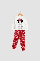 Yamamay, Пижама с щампа на Minnie Mouse, Бял / Червен / Черен, 8Y Standard