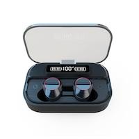 Runmus® EarBuds G05 bluetooth headset, vezeték nélküli, kihangosító, BT 5.0, dolby hang, ergonomikus kialakítás, 2000mAh telefon töltés, mobil vezérlés, mikrofon, erős basszus, univerzálisan kompatibilis, zajcsökkentés, autócsatlakozás, vízálló, Fekete