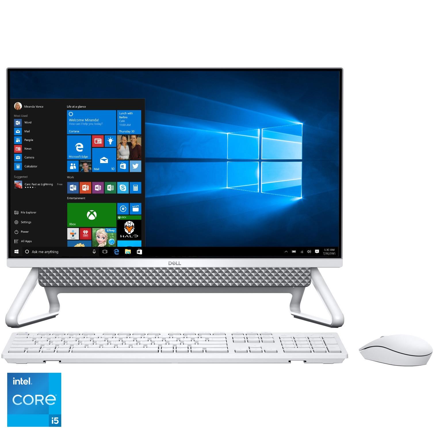 "Fotografie Sistem All-In-One Dell Inspiron 5400 cu procesor Intel® Core™ i5-1135G7 pana la 4.20 GHz, Tiger Lake, 23.8"", Full HD, 8GB DDR4, 512GB SSD, NVIDIA GeForce MX330 2GB GDDR5, Windows 10 Pro"