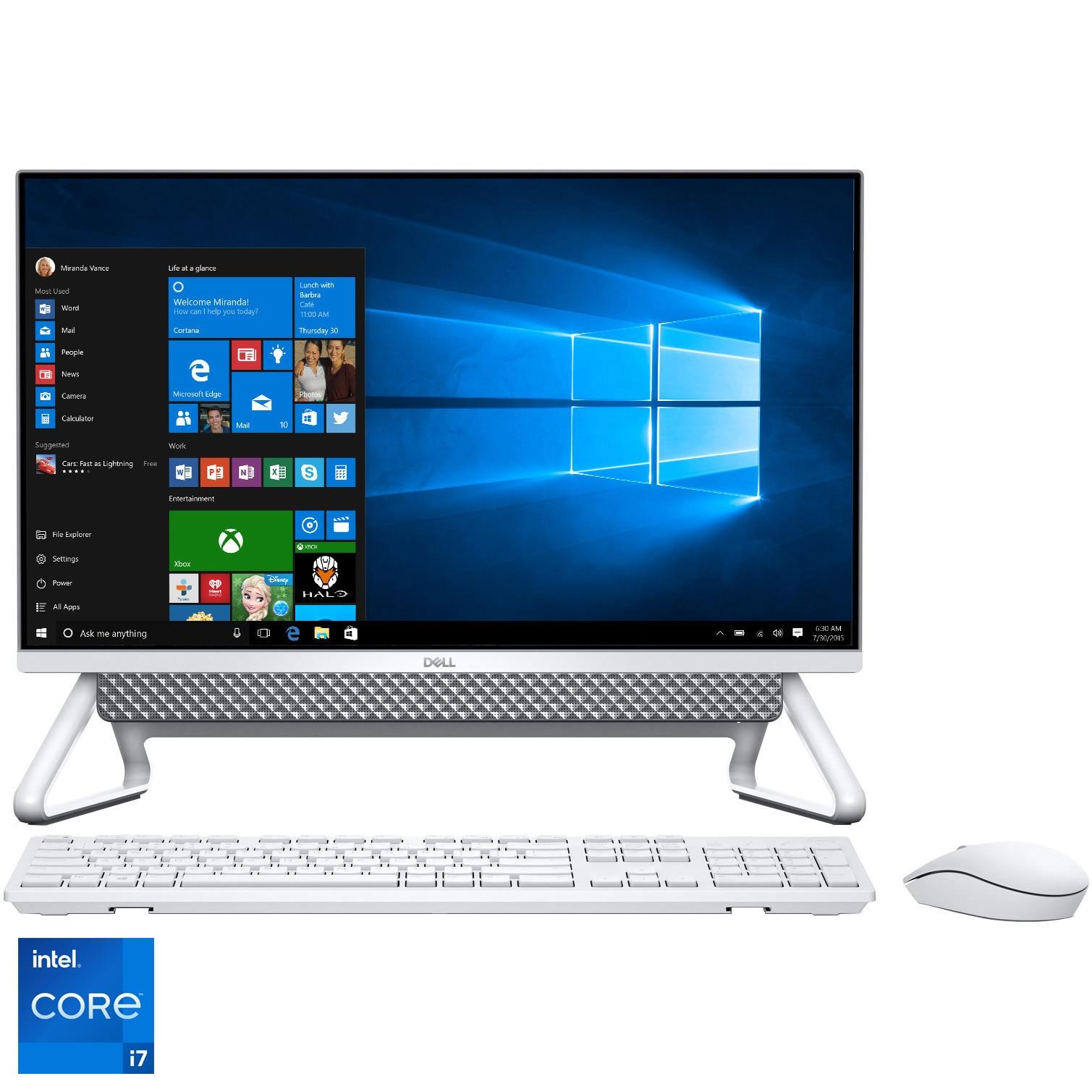 """Fotografie Sistem All-In-One Dell Inspiron 5400 cu procesor Intel® Core™ i7-1165G7 pana la 4.70 GHz, Tiger Lake, 23.8"""", Full HD, 16GB DDR4, 1TB HDD + 256GB SSD, NVIDIA GeForce MX330 2GB GDDR5, Windows 10 Pro"""