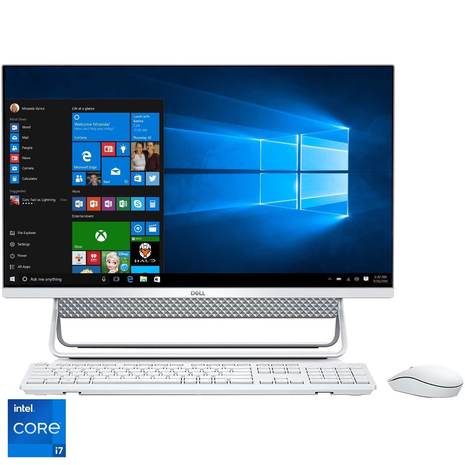 "Fotografie Sistem All-In-One Dell Inspiron 7700 cu procesor Intel® Core™ i7-1165G7 pana la 4.70 GHz, Tiger Lake, 27"", Full HD, Touch, 16GB DDR4, 1TB HDD + 512GB SSD, NVIDIA GeForce MX330 2GB GDDR5, Windows 10 Pro"