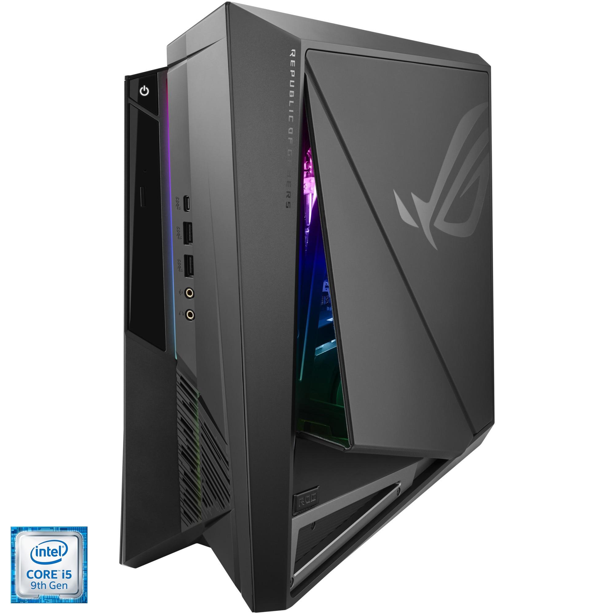 Fotografie Sistem Gaming ASUS ROG Huracan G21CX cu procesor Intel® Core™ i5-9400F pana la 4.10 GHz, Coffee Lake, 16GB DDR4, 1TB SSD M.2 NVMe™, NVIDIA® GeForce® RTX 2060 SUPER 8GB, No OS