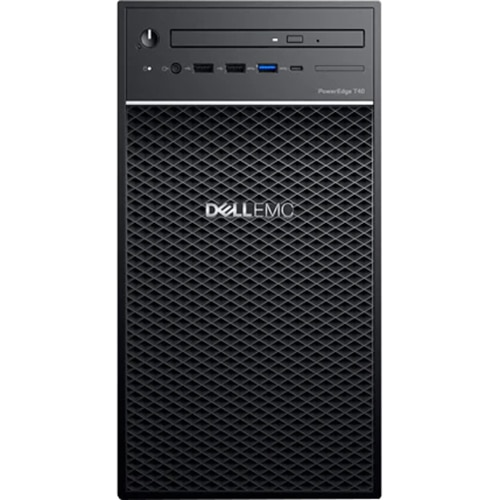 """Fotografie Server Dell PowerEdge T40, Intel Xeon E-2224G 3.5GHz, 8M cache, 4C/4T, turbo (71W), 3.5"""" Chassis with up to 3 Hard Drives, 8GB 2666MT/s DDR4 ECC UDIMM, 1 x 1TB 7.2K RPM SATA 6Gbps Entry 3.5in Cabled Hard Drive, 8x DVD+/-RW 9.5mm"""