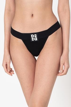 Dsquared2, Танга с лого, Черен