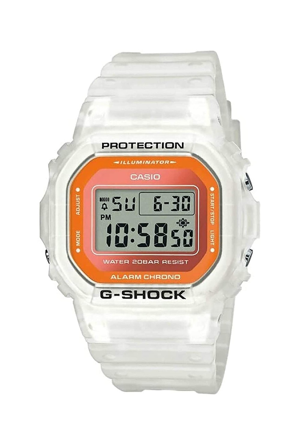 Fotografie Casio,Ceas digital G-Shock, Alb
