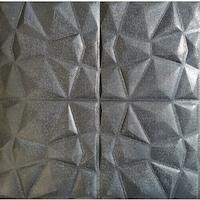 3D öntapadó tapéta, modern kivitelű, vízálló, könnyen tisztítható, méretei 70x70cm, dombornyomott gyémánt mintázat, szürke Selling Depot ®