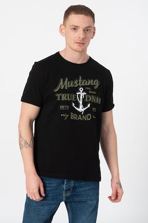 Mustang, Тениска с лого, Черен