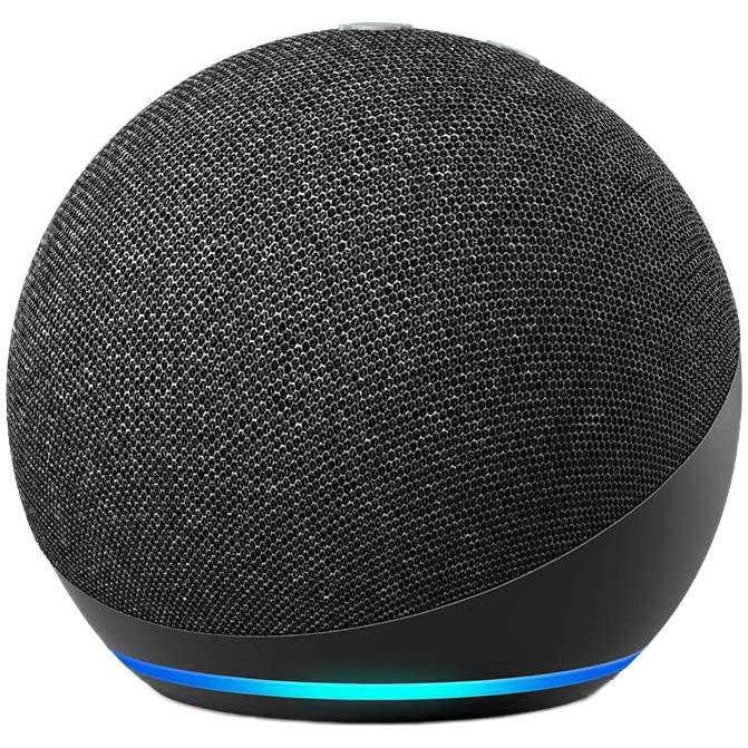 Fotografie Boxa inteligenta Amazon Echo Dot 4, Control Voce Alexa, Wi-Fi, Bluetooth, Negru