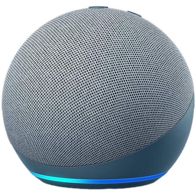 Fotografie Boxa inteligenta Amazon Echo Dot 4, Control Voce Alexa, Wi-Fi, Bluetooth, Albastru