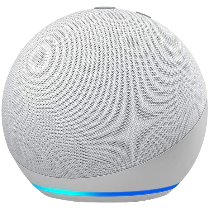 Fotografie Boxa inteligenta Amazon Echo Dot 4, Control Voce Alexa, Wi-Fi, Bluetooth, Alb