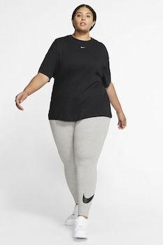 Nike, Tricou din bumbac Sportswear Essential, Negru