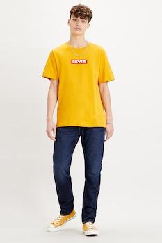 Levi's, Mintás póló hímzett részlettel, Sárga/Piros