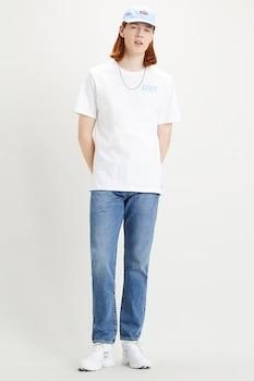Levi's, Mintás póló hímzett részlettel, kék/világoskék