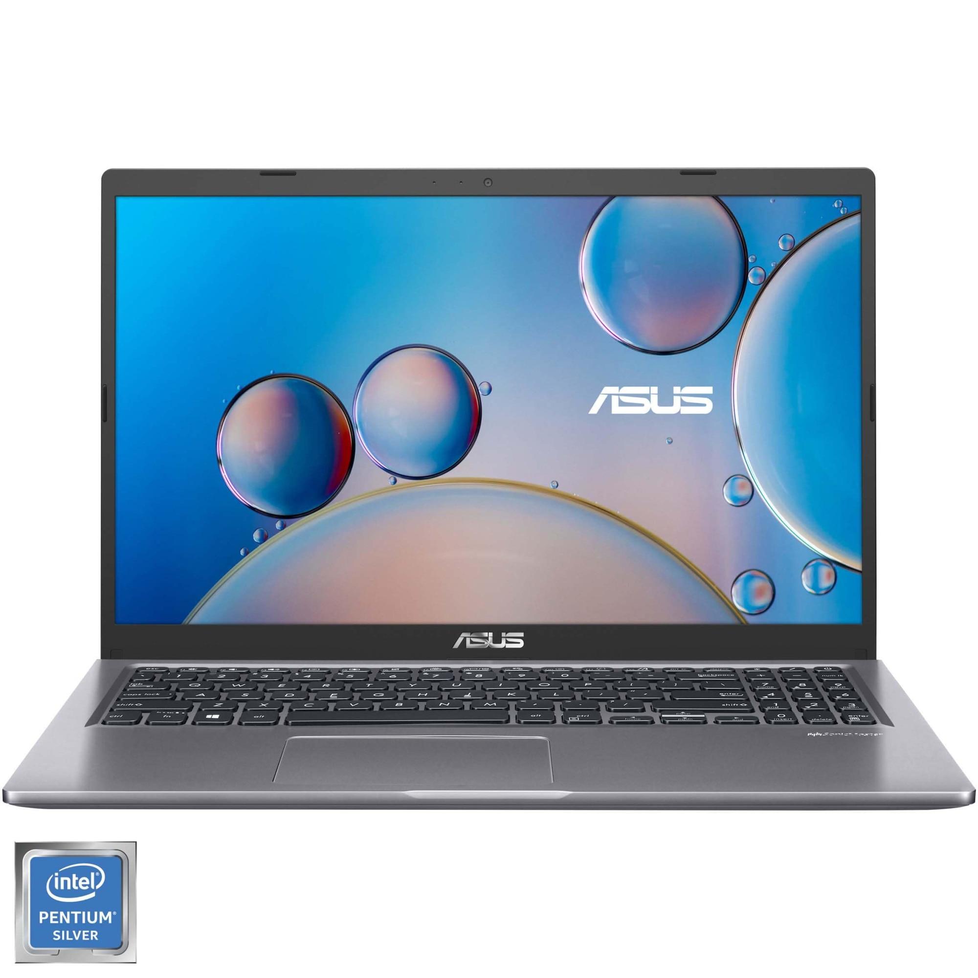 "Fotografie Laptop ASUS X515MA cu procesor Intel® Pentium® Silver N5030 pana la 3.10 GHz, 15.6"", HD, 4GB, 256GB SSD, Intel® UHD Graphics 605, Free DOS, Slate Grey"