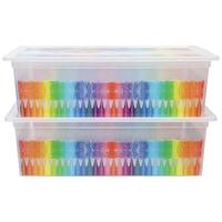 KIS Colors L tárolódoboz szett, 2 db, 27 L