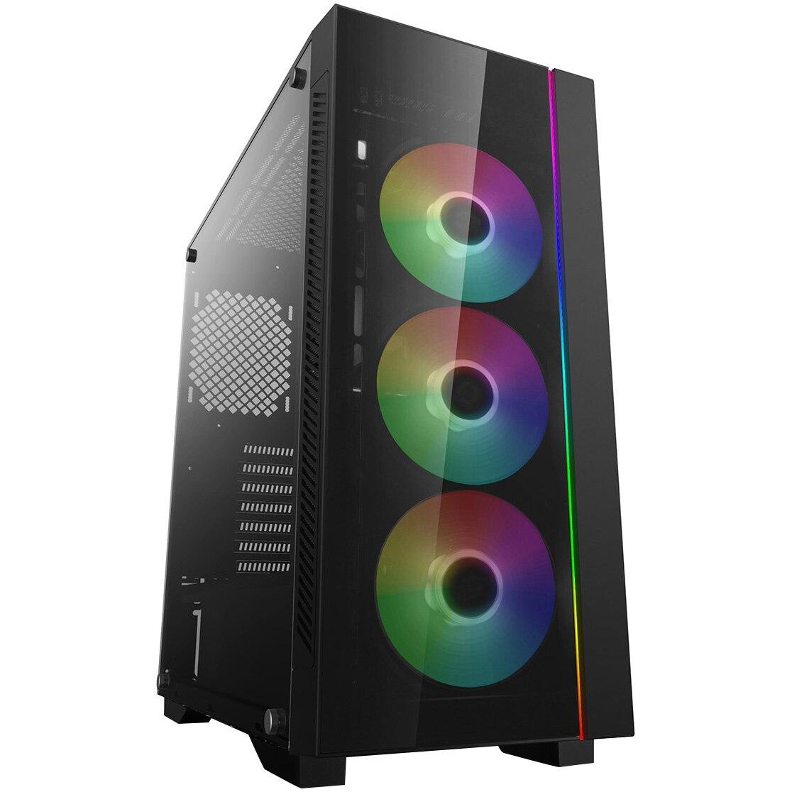 Fotografie Carcasa DeepCool MATREXX 55 V3 ADD-RGB 3F, Mid-Tower, fara sursa, E-ATX, Black