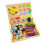 Joc din lemn, Montessori, interactiv magnetic Invatam si Desenam
