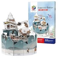 Пъзел 3D Снежна станция, музикален, 50 части