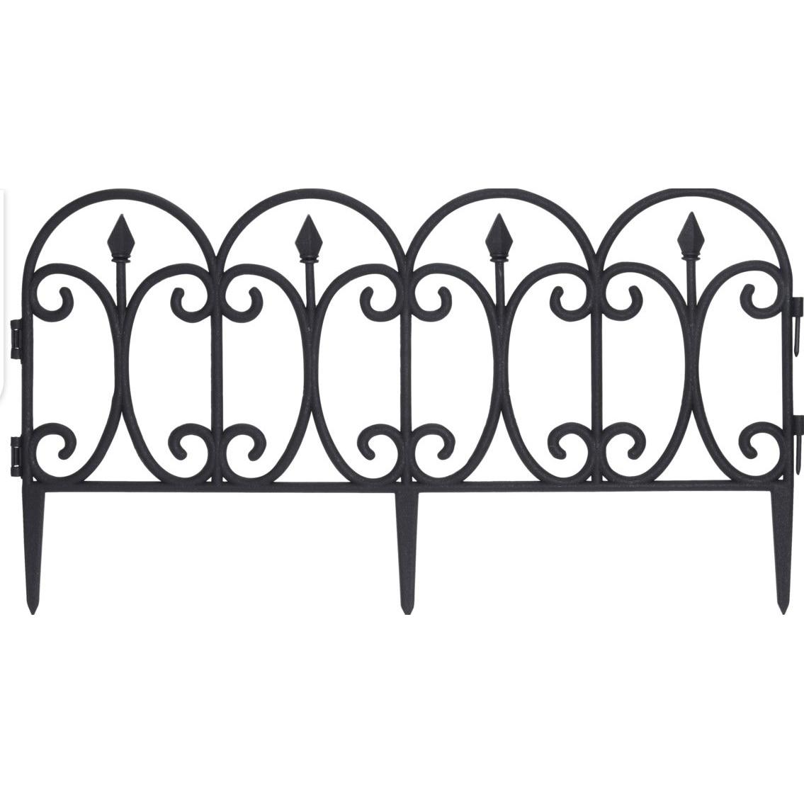 Fotografie Set 4 buc. gardulet decorativ 60X30CM, polipropilena, pentru gradina, negru
