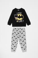 OVS, Пижама с щампа с анимационни герои, Черен/Сив/Жълт, 74 CM Standard