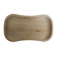 Platou lemn , tava servire aperitive/legume/friptura, 30L x 17l x 2.5 h , traditional, bej