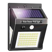 Aexya, napelemes fali lámpa 60 LED-del, mozgásérzékelőkkel, fekete