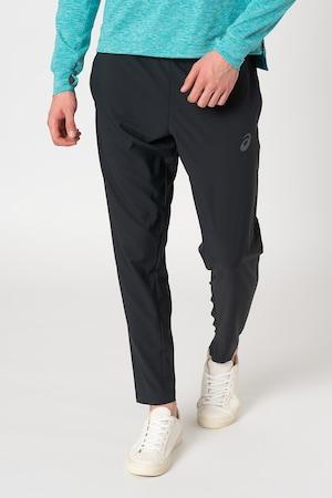 Asics, Спортен панталон за бягане с еластична талия, Черен