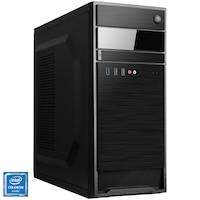Настолен компютър Home/Office SERIOUX, Intel® Celeron® G4930, RAM 4GB, SSD 120GB, Intel® UHD Graphics 610, No OS, Black, Мишка+Клавиатура