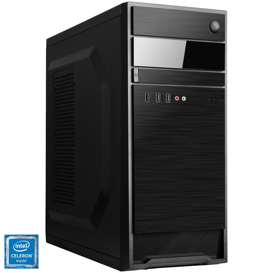 Fotografie Sistem Desktop PC Home/Office Serioux cu procesor Intel® Celeron® G4930 3.20GHz, 4GB DDR4, 120GB SSD, Intel® UHD Graphics 610, Mouse + Tastatura