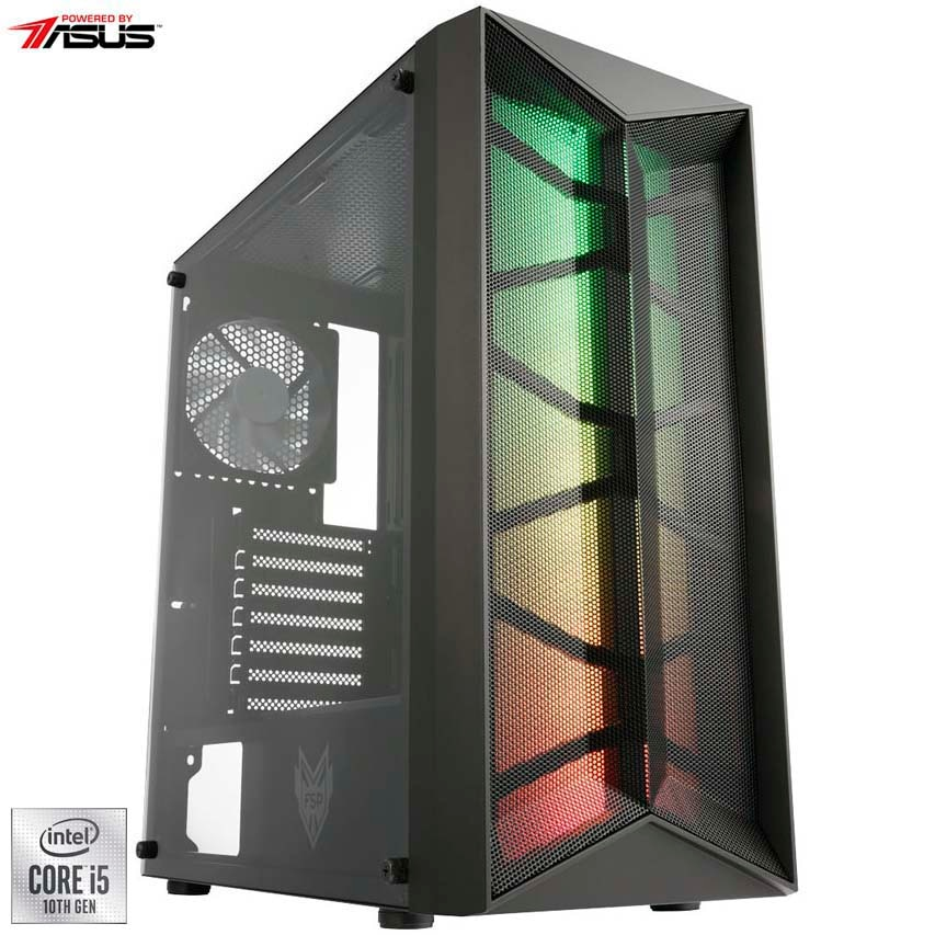 Fotografie Sistem Desktop PC Gaming Serioux Powered by ASUS cu procesor Intel® Core™ i5-10400F pana la 4.30GHz, 8GB DDR4, 512GB SSD, Radeon™ RX 550 4GB GDDR5