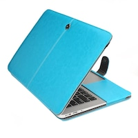 "MacBook Air 2015 - 2017 tok, 13"", Eco bőr, kék színű, Flip típusú"